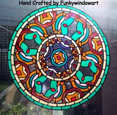 Canal Art Style 2 Mandala Static Window Cling