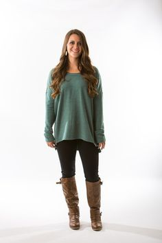 Lilith Soft Shirt in Soft Aqua (Light Emerald Green) by Black Swan – Two Elle's Boutique