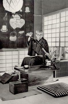 """shihlun: """" Hiroshi Hamaya, Painter Tsuguharu Foujita, 1938. """""""