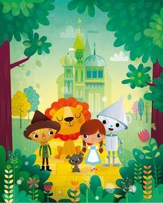 Wizard of Oz nursery wall art print by IreneGoughPrints on Etsy