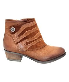 Another great find on #zulily! Coffee Benny Leather Bootie #zulilyfinds