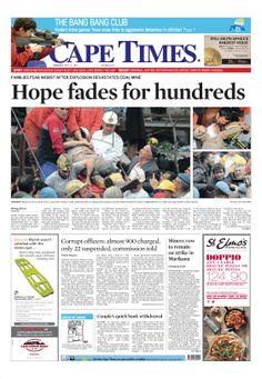 News making headlines: Hope fades for hundreds