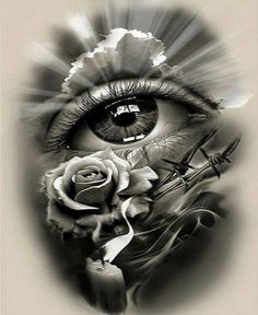 S Tattoo, Tatoo Art, Skull Tattoos, Rose Tattoos, Black Tattoos, Tattoo Drawings, Heart Tattoos, Black Sleeve Tattoo, Realistic Tattoo Sleeve