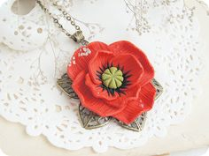 Hey, I found this really awesome Etsy listing at https://www.etsy.com/ru/listing/176536246/red-poppy-floral-pendant-polymer-clay