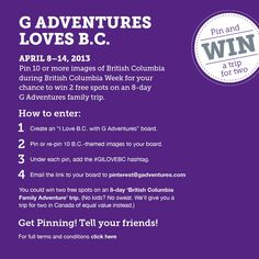 Win a British Columbia Family Adventure with G Adventures!