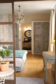 The Renaissance apartment of La Madone, a manor house in the center of Apt, Luberon, France.