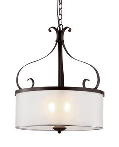 "View the Trans Globe Lighting 70388 8 Light 16"" Drum Pendant with Seeded Clear Shade at LightingDirect.com."