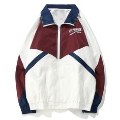 b5921f5436b4 Re'Fusion Champion Vintage Color Block Patchwork Embroidery Windbreaker  Jacket