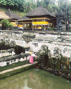 Bathing temple of Goa Gajah (Elephant Cave) Near Ubud, Bali, Indonesia. (via Instagram: SarahBM.)