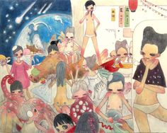 Nomads Are Excellent in Battle, Aya Takano 2007 Kunst Inspo, Art Inspo, Sketchbook Inspiration, Art Sketchbook, Aya Takano, Japanese Art Modern, Superflat, Different Art Styles, Art Folder