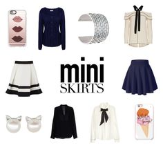 """""""Mini Skirts"""" by mayday004 ❤ liked on Polyvore featuring Lipsy, Casetify, Kate Spade, H&M, Vince, Napapijri, Proenza Schouler and MM6 Maison Margiela"""