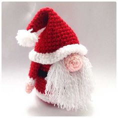 Santa Gonk amigurumi by Hooked On Patterns