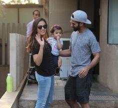 Shahid Kapoor and Mira Rajput with Misha snapped at Khar