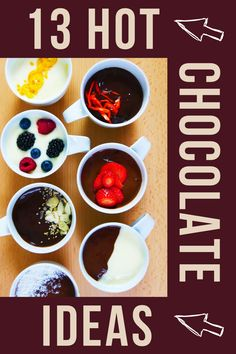 The perfect hot chocolate - Food On Mars Meal Recipes, Healthy Dessert Recipes, Sweets Recipes, Quick Recipes, Healthy Snacks, Hot Chocolate Recipes, Vegetarian Chocolate, Blueberries, Strawberries