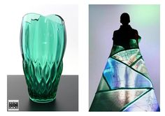 Reflejos agua que con la luz nos trastadas a cristalinos lagos . Cristal disponible en Retrospectroom Barcelona. www.retrospectroom.co.uk