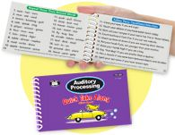 Auditory Processing Quick Take Along Mini-Book is a pocket-sized resource for the busy speech-language pathologist, special educator, teacher, and parent. Use the lists for introducing or practicing listening and comprehension skills.