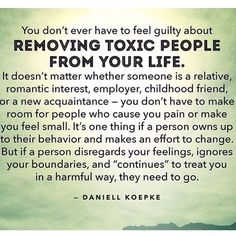 Friend on FB -Val J Beutel shared 'Remove Toxic People from Your Life