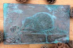 Hedgehog garden sculpture bronze effect hedgehog ornament