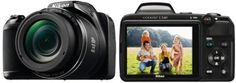 Nikon Coolpix L340 20.2MP Digital Camera -with 28x Optical Zoom Black