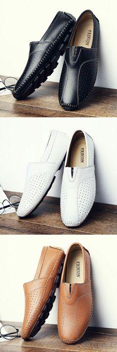 US $28.5 Comfortable Handmade Leather Casual Men's Flats