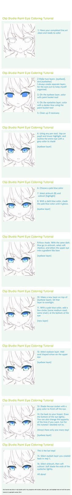 Clip Studio Paint Eye Tutorial by sonkeii.deviantart.com on @DeviantArt