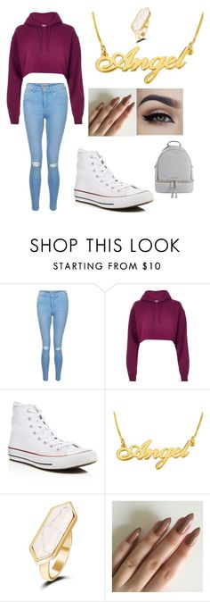 """""""Untitled #2"""" by addiersmith ❤ liked on Polyvore featuring New Look, River Island, Converse and MICHAEL Michael Kors"""