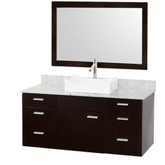 master bathroom vanity option - sink is different - may be hard to wash my hair in