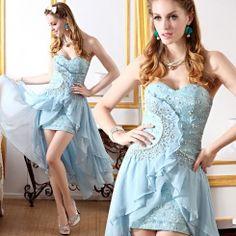 Exquisite graceful strapless blending swallowtail prom dresses NC-2152-Lovelyshoes.net