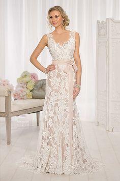 Romantic lace wedding dress by Essense Of Australia, Spring 2014