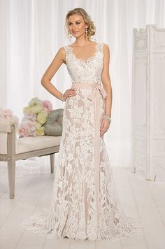 Discount 2015 vintage a line lace applique wedding dresses for Made of honor wedding dress