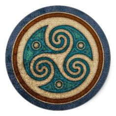 Dark Triskele Stickers Celtica - Celtic Knotwork Art & Design W. Schenck of man Triquetra, Celtic Patterns, Celtic Designs, Celtic Symbols, Celtic Art, Celtic Dragon, Celtic Knots, Celtic Tattoos, Norse Mythology