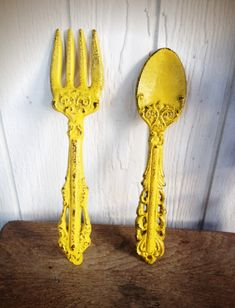 BOLD sunny canary yellow KITCHEN wall decor // ornate by BOLDHOUSE, $25.00