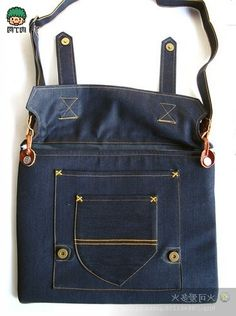 Bags and denim jeans.