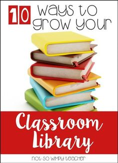 Buying books for a classroom library can get expensive! Check out these 10 ways to grow your classroom library on a teacher's budget!