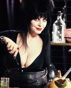 The most important cooking tip on - Add plenty of wine to the cook! Goth Beauty, Dark Beauty, Fashion Beauty, Elvira Movies, Pernas Sexy, Cassandra Peterson, Dark Fantasy Art, Gal Gadot, Celebs