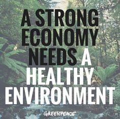 """Tony Abbott said his govt. won't """"put the environment ahead of the economy"""". RT if you think he's got his it wrong."""