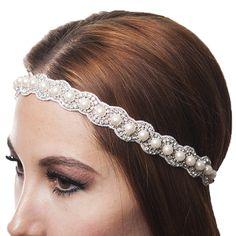 Pretty Pearl & crystal #headwrap