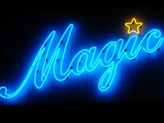magic, neon, and blue image Purple Tumblr, Neon Azul, Budgeting Tools, Neon Words, Vintage Industrial Lighting, Vintage Light Fixtures, Neon Aesthetic, Lettering, Typography