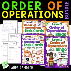 Order of Operations Games, Task Cards, and Tests Bundle Math Tutor, Teaching Math, Maths, Math Teacher, Teaching Resources, Cooperative Learning Strategies, Operation Game, Order Of Operations, Math Words