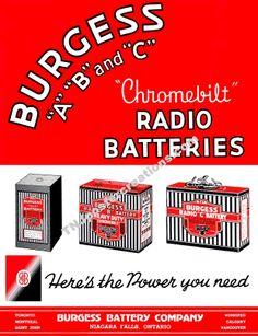 Burgess Radio Batteries ad