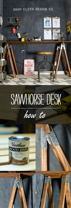 Sawhorse Desk DIY How To Make Your Own
