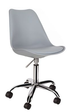 Eames Style Chair with grey seat and chrome frame (Eiffel Style) Eames, Chrome, Cushions, Legs, Chair, Grey, Furniture, Home Decor, Style