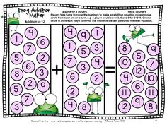 Finally I have finished updating my Addition Board Games and Subtraction Board Games. I love a good makeover and you will too when you see t. Math Board Games, Math Boards, Math Games, Math Activities, Fun Games, Addition Games, Math Addition, Math Tutor, Teaching Math