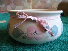 Vintage Sweden Mid Centyry Studio Art Pottery Gabriel Vase Bowl  Cream white