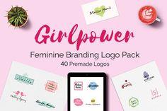 GIRLPOWER Feminine Branding Logo Set by XpertgraphicD on @creativemarket