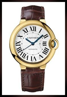 Buy this splendid Ballon Bleu de Cartier 36 mm Automatic Brown Alligator Leather Pink Gold Case Womens Watch at lowest price Cartier Santos, Rolex Gmt Master, Patek Philippe, Mens Watches Leather, Watches For Men, Women's Watches, Fashion Watches, Men Fashion, Fashion Tips