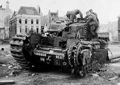 Churchill tank Calgary Regt examined by Germans after the raid on Dieppe 19 Aug 1942