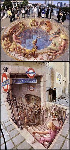 ART-de la rue-Dessin à la craie-Kurt Wenner(20/05/2008) - Le blog de EasyDoor