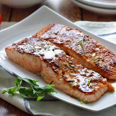 Honey garlic salmon. Very good