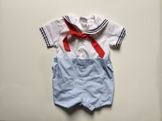 1970s baby boys NAUTICAL PREPPY 2 piece by VinTaGeOus102607, $20.00